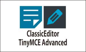 ワードプレス・プラグインClassicEditorとTinyMCE Advanced